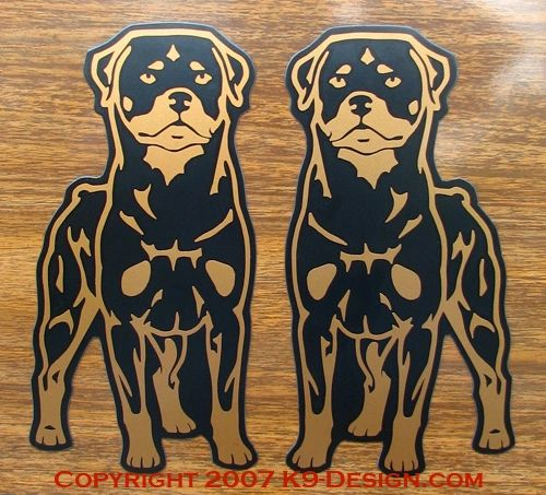 Rottweiler Stand Front Magnet