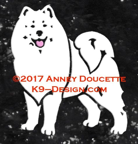Samoyed Stand Front Decal