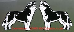 Siberian Husky Stacked Small Magnet - Choose Color
