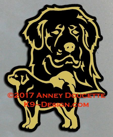 Tibetan Mastiff Large Magnet - Choose Color