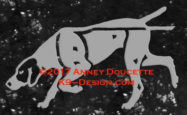German Shorthaired Pointer Tracking Decal