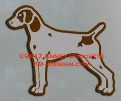 German Shorthaired Pointer Stacked Magnet - Choose Color