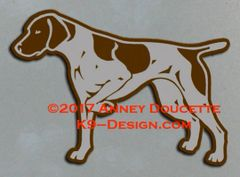 German Shorthaired Pointer Pointing Magnet - Choose Color