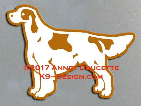 Irish Red & White Setter Standing Magnet