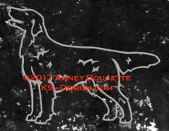 Flat-Coated Retriever 2017 Standing Decal