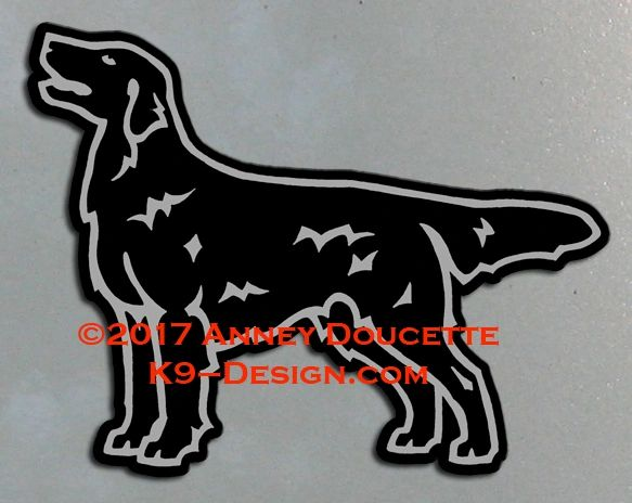 Flat-Coated Retriever 2017 Standing Magnet - Black or Liver