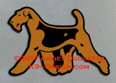 Airedale Terrier Trotting Magnet