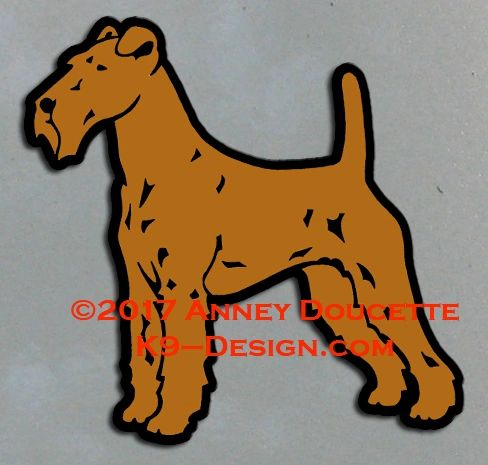 Irish Terrier Standing Magnet