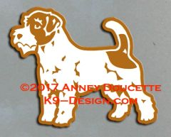 Russell Terrier (Wire) Standing Magnet