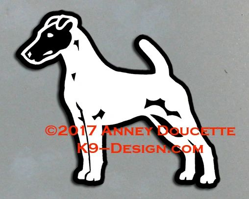 Smooth Fox Terrier Stacked Magnet