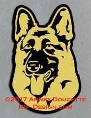 German Shepherd Dog Headstudy Magnet - Choose Color