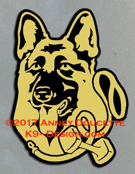 German Shepherd Dog Obedience Headstudy Magnet - Choose Color