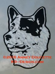 Australian Cattle Dog Small Headstudy Magnet - Choose Color
