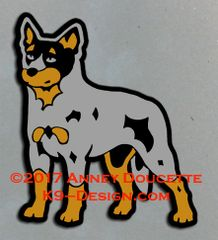 Australian Cattle Dog Standing Magnet - Choose Red or Blue Dog