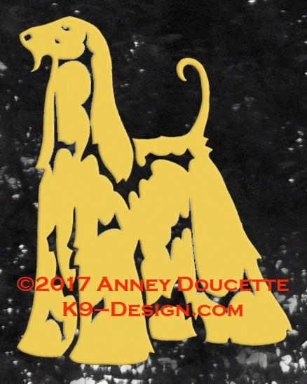 Afghan Hound Standing Decal - Choose Color
