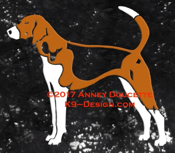American Foxhound Standing Decal