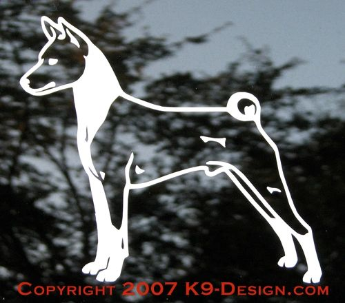 Basenji Stacked Decal