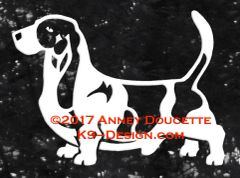 Basset Hound Stacked Decal