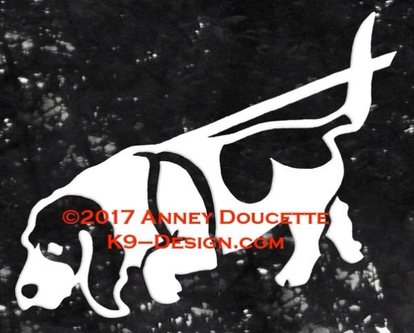 Basset Hound Tracking Decal