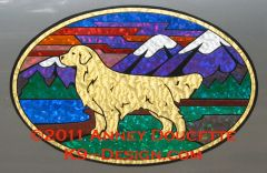 "Golden Retriever ""Colorado"" XL Oval Magnet"