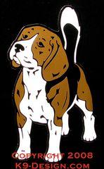 Beagle Standing Front Large Magnet