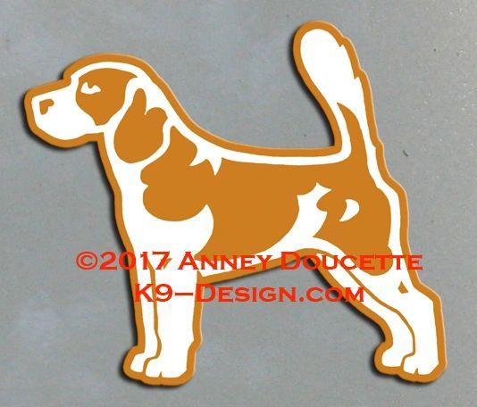 Beagle Stacked Magnet - Choose Color