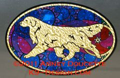 "Golden Retriever ""Show Spectacular"" XL Oval Magnet"
