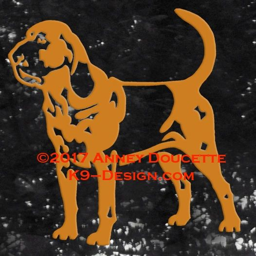 Bloodhound Standing Decal