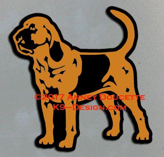 Bloodhound Standing Magnet