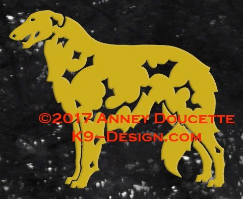 Borzoi Standing Decal - Choose Color