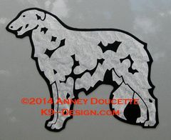 Borzoi Standing Magnet - Choose Color
