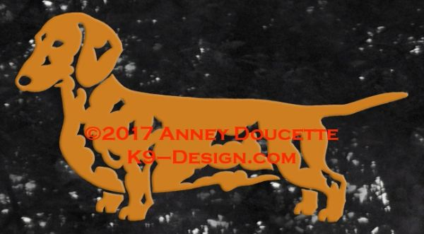 Smooth Dachshund Standing Decal