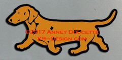 Smooth Dachshund Trotting Magnet