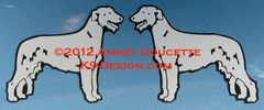 Irish Wolfhound Standing Magnet - Choose Color