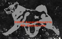 Norwegian Elkhound Trotting Decal