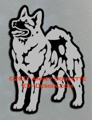 Norwegian Elkhound Standing Magnet