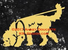 Otterhound Tracking Decal - Choose Color