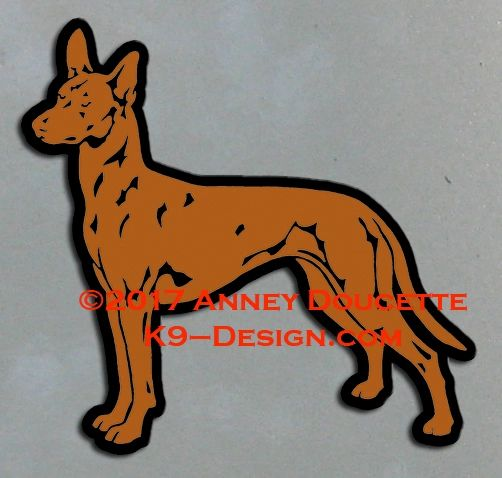 Pharaoh Hound Stacked Magnet