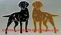 Curly-Coated Retriever Standing Magnet - Black or Liver