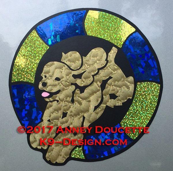 Cocker Spaniel Agility Tire Magnet - Choose Colors