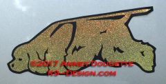 Cocker Spaniel Tracking Magnet - Choose Color