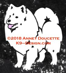 American Eskimo Dog Standing Decal