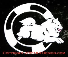 American Eskimo Dog Agility Decal