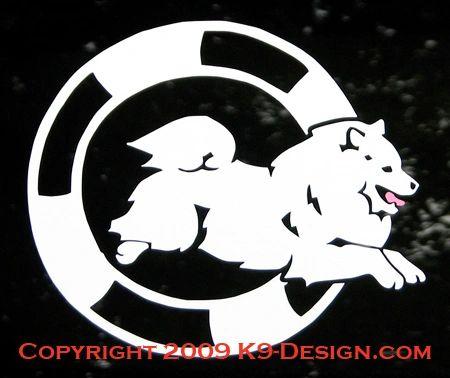 American Eskimo Dog Agility Decal