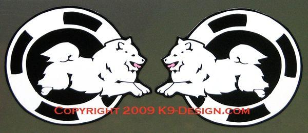 American Eskimo Dog Agility Magnet