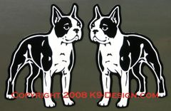Boston Terrier Standing Magnet - Choose Color