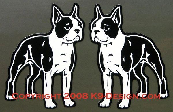 Boston Terrier Standing Magnet - Choose Color