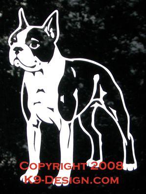 Boston Terrier Standing Decal