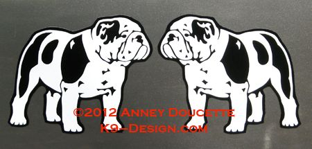 Bulldog Standing Magnet - Choose Color