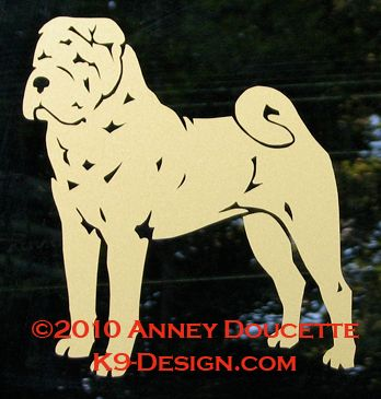 Chinese Shar-Pei Standing Decal - Choose Color